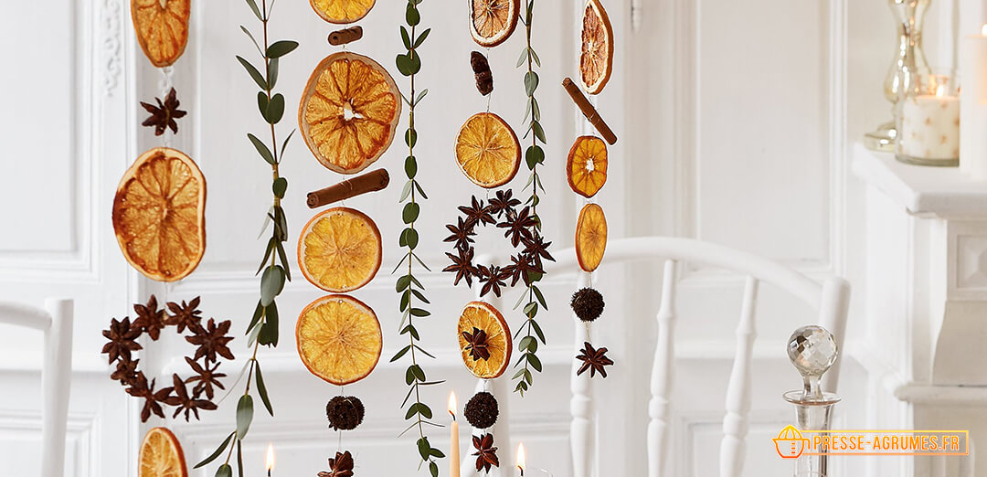 orange guirlande